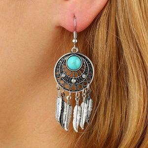 925 Silver-Plated Vintage Bohemian Earrings